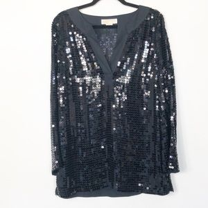 Michael Kors Black Sequin Tunic Size Medium